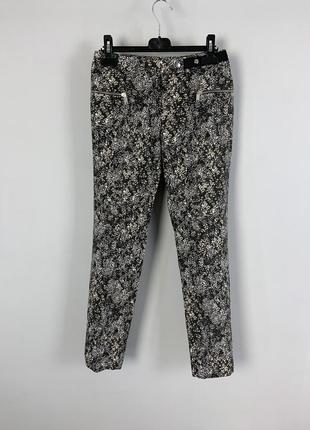 Распродажа приталенные прямые укороченные штаны брюки с принто...