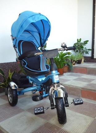 Детский трехколесный велосипед Royal Trike синий складной