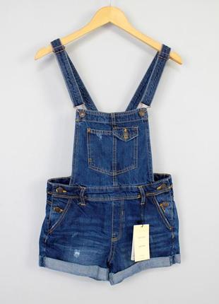 Распродажа джинсовый комбинезон с шортами bershka