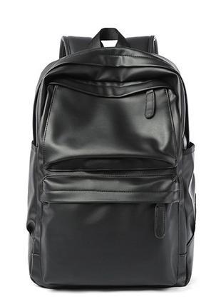 Черный мужской рюкзак с карманами