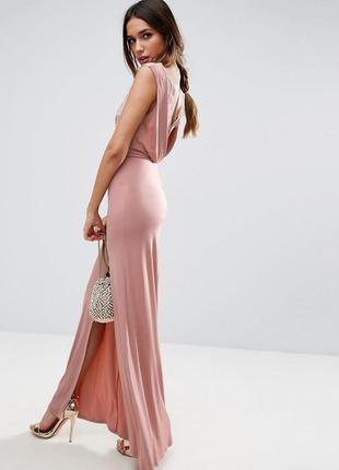 Невероятно нежное пастельное выпускное вечернее платье макси с...
