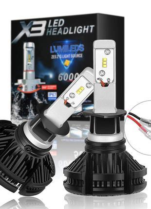 Автолампа LED X3 H7 (50)