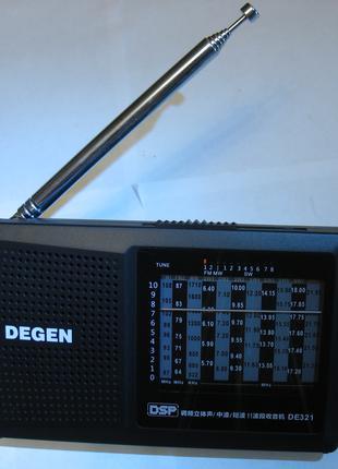 Супер радиоприемник DEGEN DE321 ЦИФРОВОЙ радио приемник ВСЕ ЗОНЫ