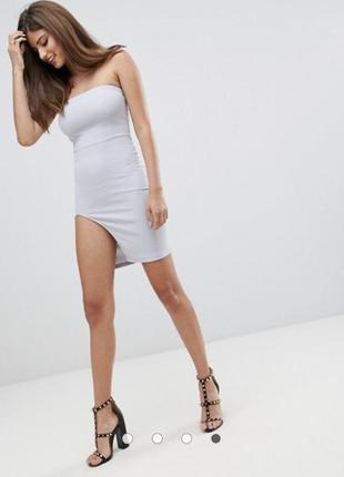 Облегающее мини-платье бюстье с боковым разрезом ax paris
