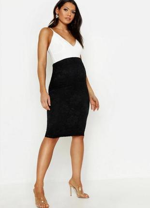 #розвантажуюсь  бархатная юбка карандаш для беременных boohoo