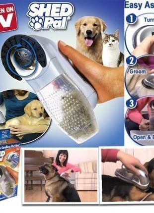 Машинка расческа для вычесывания сбора подшерстка животных She...