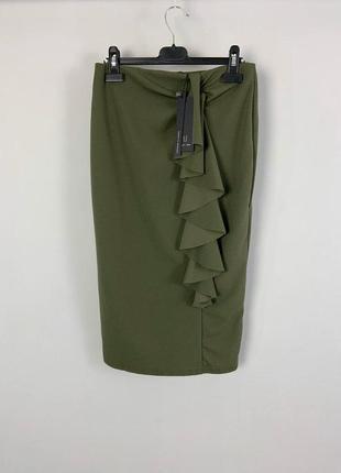 Качественная облегающая юбка карандаш на высокой посадке с обо...