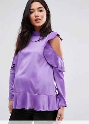 Атласная блуза, подойдет беременным
