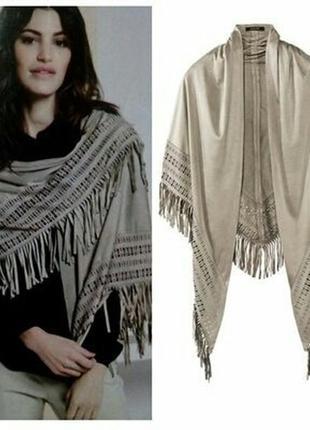 Стильная накидка  платок из искуст. замши esmara