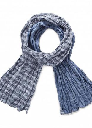 Хлопковый  двухсторонний шарф tchibo р.195х50