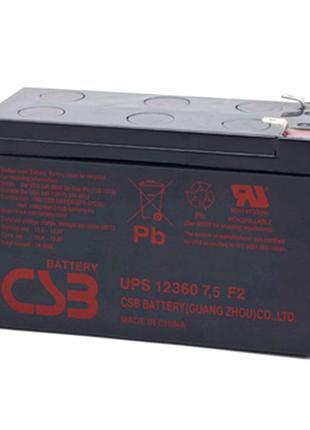 Акумуляторна батарея CSB UPS12360, 12V7,5Ah (151х65х94мм)