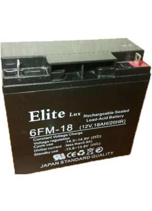 Акумулятор 12V - 18Ah Elite AGM GP1218M5 12 V 18Ah (181x77x167...