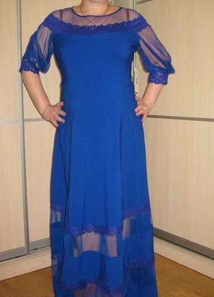 Роскошное вечернее платье dzyn line большой размер 54 - 56