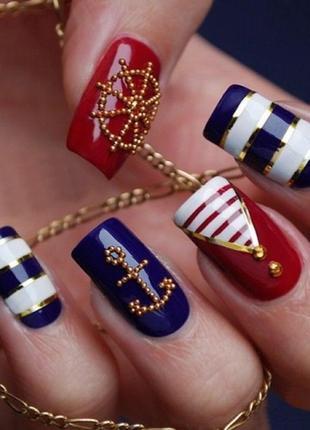 Бульонки металлические шарики декор для дизайна ногтей