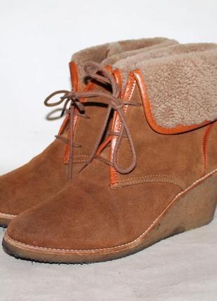 Aigle замшевые зимние ботинки на меху 39 размер