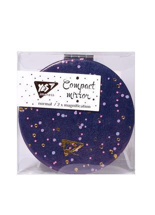 "Зеркало YES компактное ""Viola"", круглое, 7,5 см, фольга"