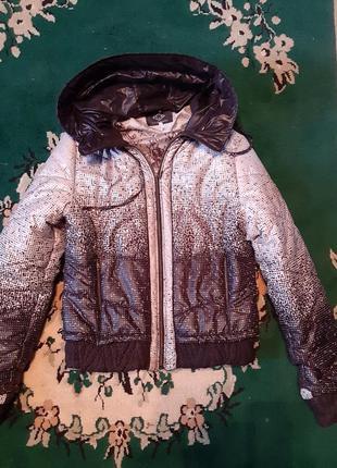 Зимняя дутая куртка с мехом