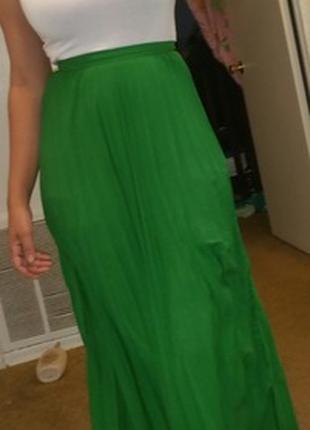 Новая зеленая макси длинная юбка в пол sheinразмер s