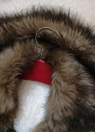 Горжетка пелерина меховая искусственный мех воротник
