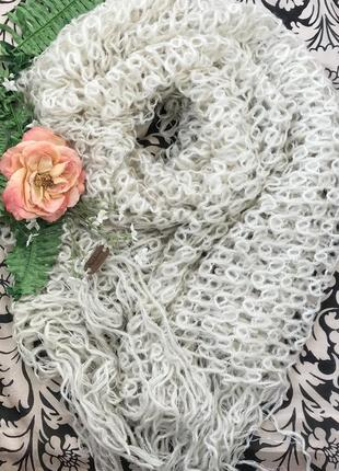 Брендовый ♥️😎♥️ ажурный огромный шарф палантин pepe jeans.