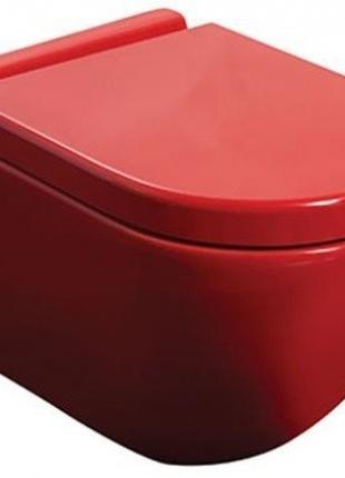 Унитаз подвесной NEWARC Modern (3823R) красный