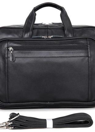 Сумка мужская Vintage 14398 для ноутбука 17 дюймов Черная