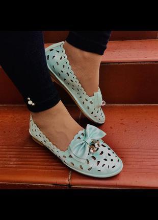 Кожа туфли балетки слипоны кожаные