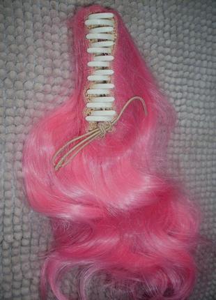 Волосы хвост локоны прядь на крабике