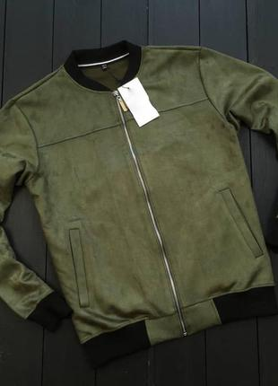 Куртка замша мужская стильная весна осень