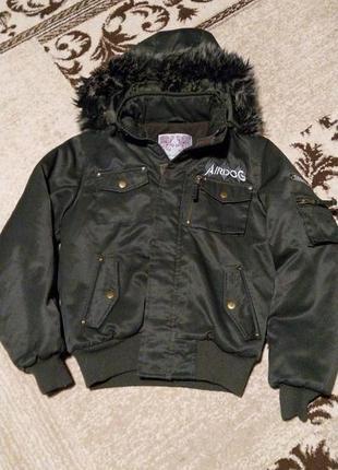 Зимняя теплая куртка для мальчика 10-11 лет