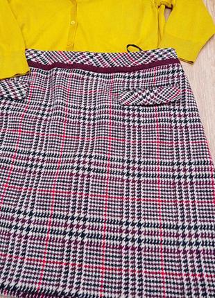 Теплая зимняя юбка большого размера