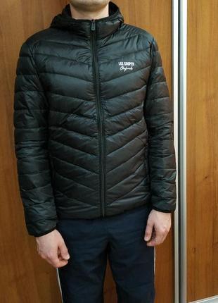 Фирменный мужской теплый демисезонный пуховик куртка lee coope...