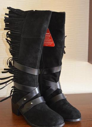 Joe browns сапоги деми, замша, 38й размер, на 25см.