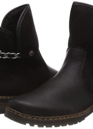 Rieker утеплённые деми-ботинки 37й размер.