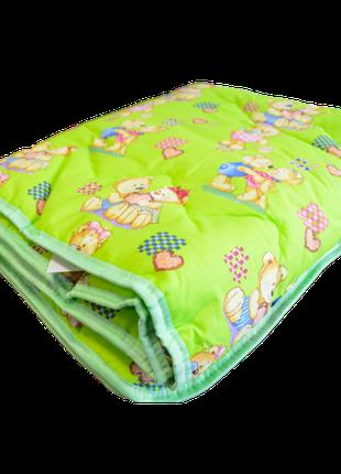Одеяло детское Вилюта шерстяное в ранфорсе 140*100 (300)