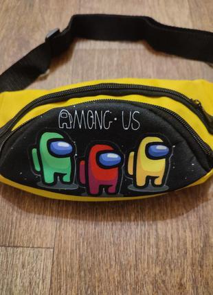 Сумка через плечо бананка among us амонг ас поясная сумка детс...