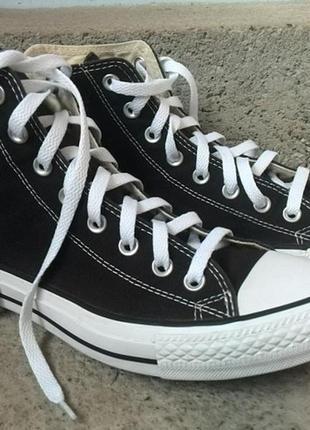 Кеды высокие черные converse all star