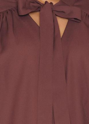 Новая туника блуза с бантом галстуком сзади длиннее рубашка ко...