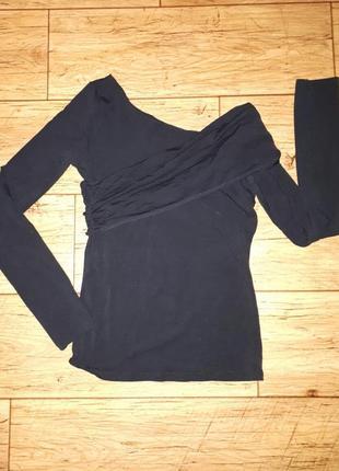 Блуза трансформер с открытым плечом ассиметричный вырез