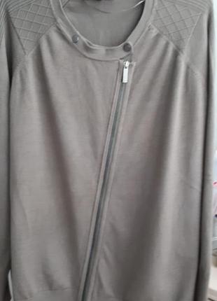 Вискозный бомбер свитер на молнии кофта по типу косухи кардиган