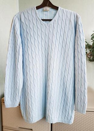 Коттоновый удлиненный свитер германия