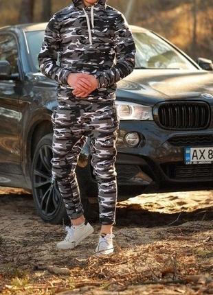 Мужской спортивный костюм зимний плотный теплый
