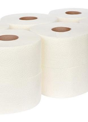 Оптом туалетная бумага ДЖАМБО целлюлозная 90 и 75 метров в рулоне