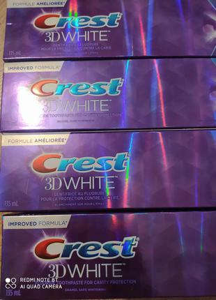 Зубна паста crest 3d white.