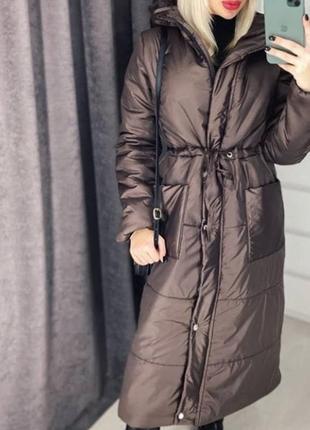 Распродажа! пальто плащевое с капюшоном!