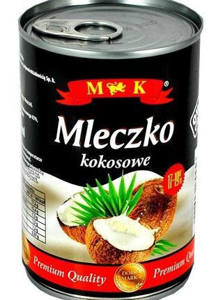 Кокосовое молоко жирностью 17-19%  M&K 400мл, Mleczko kokosove