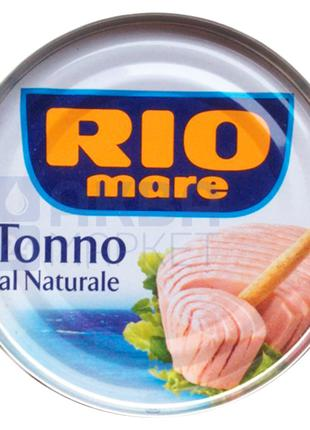Тунец цельными кусочками в собственном соку Rio Mare, 80г Италия