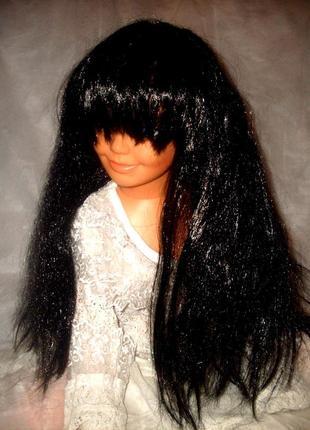 Парик маскарадный брюнетка длинные волосы