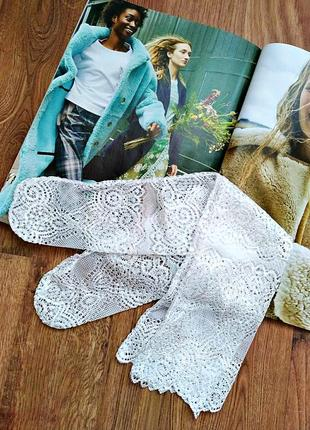 Эффектные кружевные белые носочки/тренд/стильно/новая коллекция