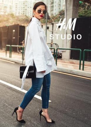 Эксклюзивная оригинальная блуза рубашка клеш h&m studio 2018